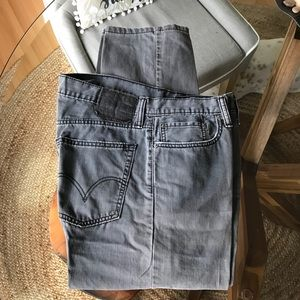 Levi's 514 slim straight grey jeans